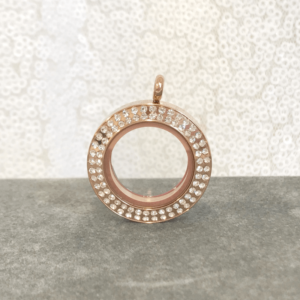 double row rose gold lavish locket