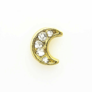 Gold diamante moon charm