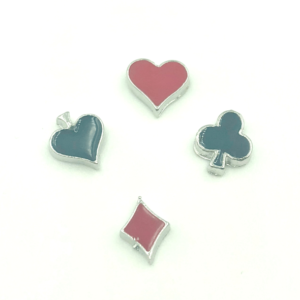 playing cards floating charms