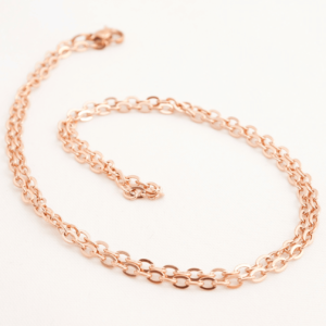 rose gold trace chain