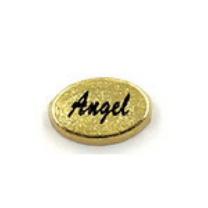 oval angel charm
