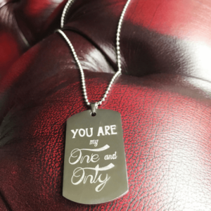 engraved mens dog tag