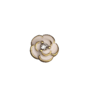 Gold and White Flower Floating charm