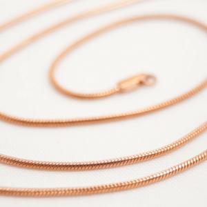 rose gold snake chain