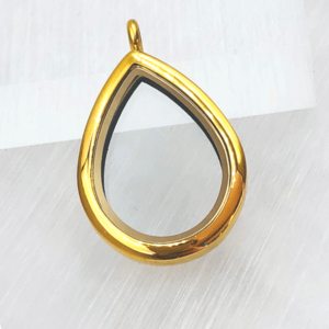 Gold teardrop lavish locket