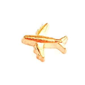 Gold Aeroplane Floating charm