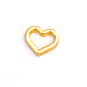 Gold Open Heart Floating charm