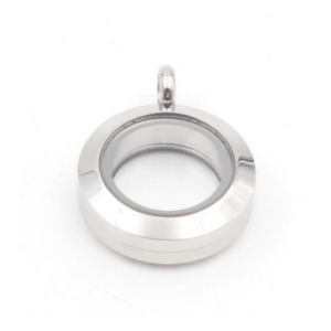 mini plain silver lavish locket