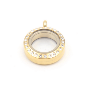 Mini Gold Lavish Locket diamante
