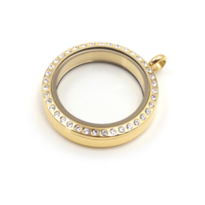 Medium Diamante Gold Lavish Locket