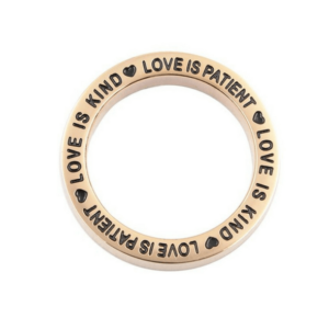 Love is Patient Loop-rose gold