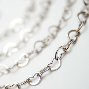 Silver Heart Link Chain