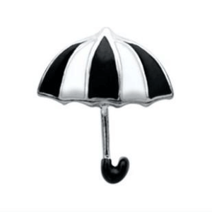 black and white umbrella