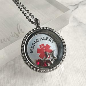 medical alert backplate