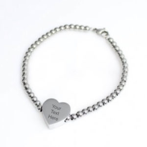 Engraved Bead Bobble Bracelet