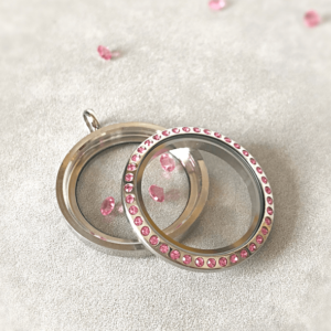 NEW PINK Diamante Large Lavish Locket