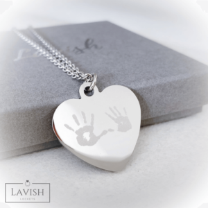 Heart necklace - print engraved