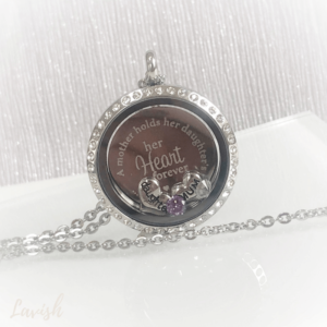 Mother and Daughter Engraved Locket