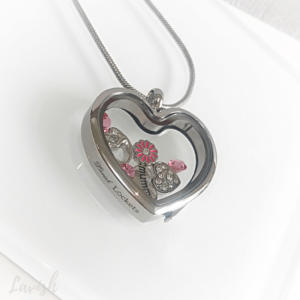 Pink Mum Heart Locket