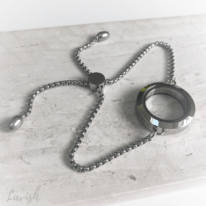 Lavish Locket Slider Bracelet